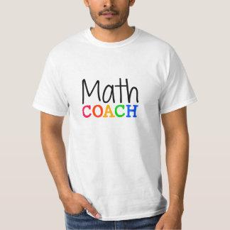 Math Coach Teacher White Shirt