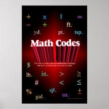 Math Codes Poster print