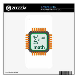 Math Computer Chip Skin For iPhone 4