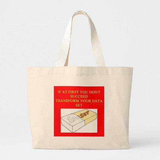 math data set large tote bag