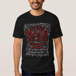 Math Degree Shirt