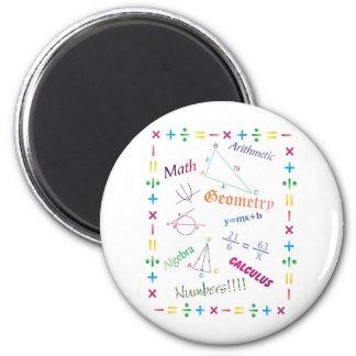 Math Design 2 Inch Round Magnet