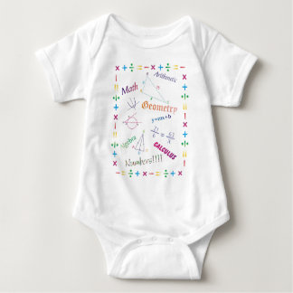 Math Design Baby Bodysuit