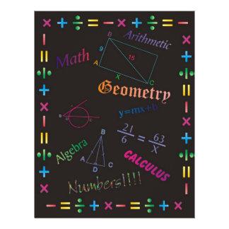 Math Design Black Flyer