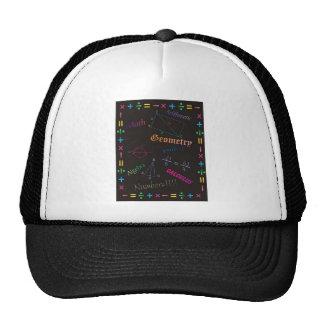 Math Design Black Trucker Hat