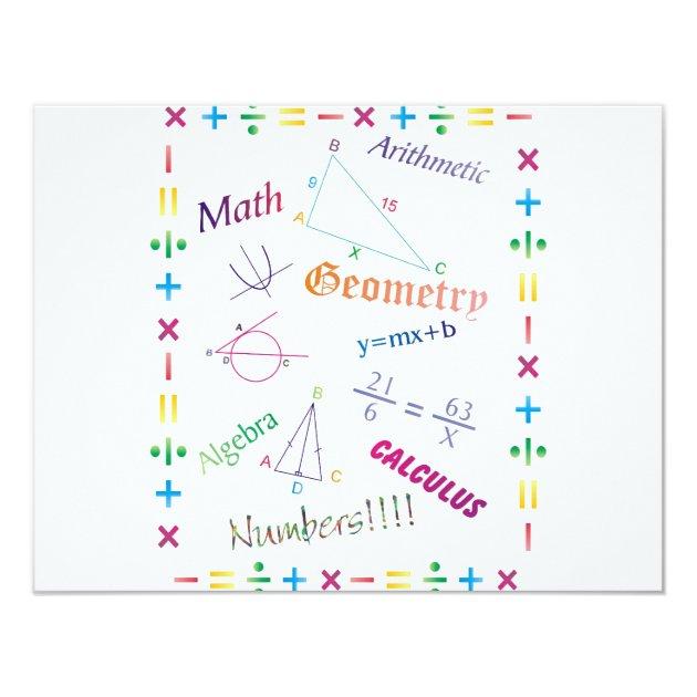 Math Design Card   Zazzle