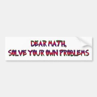 math design for my teacher bumper sticker