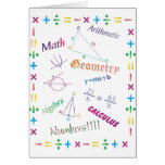 Math Design Greeting Card