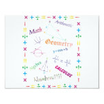 Math Design Personalized Announcements