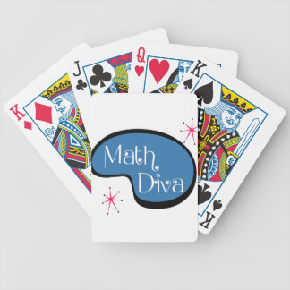 Math Diva Bicycle Playing Cards