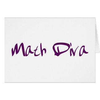 Math Diva Card