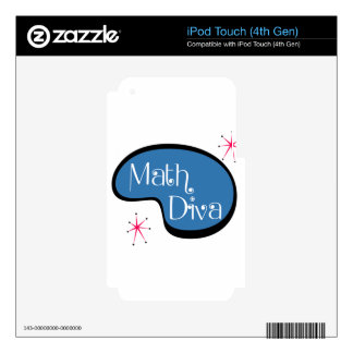 Math Diva Decal For iPod Touch 4G