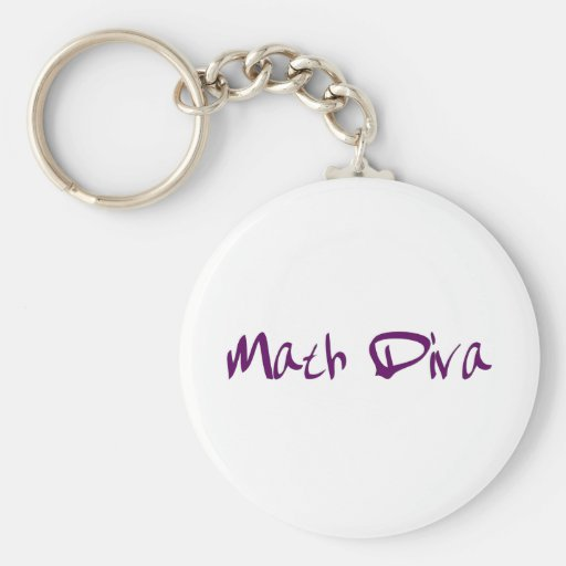 Math Diva Key Chain