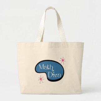 Math Diva Large Tote Bag