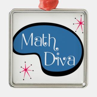 Math Diva Metal Ornament