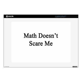 Math Doesn't Scare Me Laptop Decal