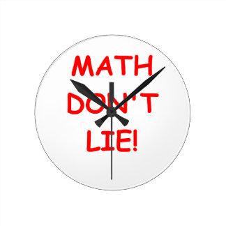math don't lie wall clock