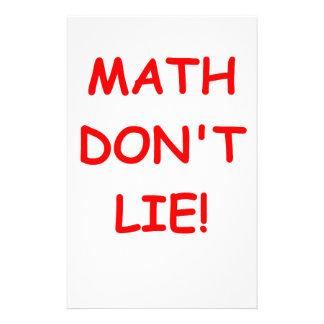 math don't lie stationery design