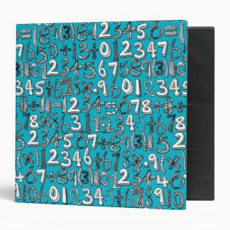 math doodle blue 3 ring binder