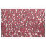 math doodle red fabric
