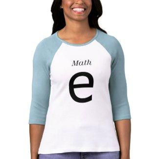 Math, e shirt