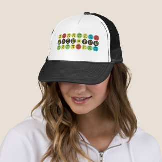 Math equals Fun - Colorful Mod Pi  - Funny Pi Gift Trucker Hat