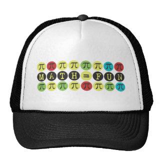 Math equals Fun - Colorful Mod Pi  - Funny Pi Gift Trucker Hat