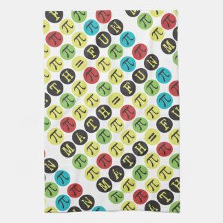 Math equals Fun - Funny Pi - Colorful Mod Pi Towel