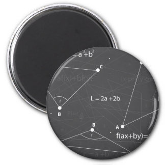 Math Equations 2 Inch Round Magnet