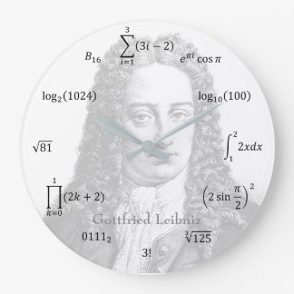 Math Equations and Notations Large Clock