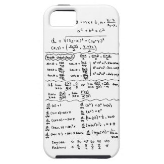 Math Equations Cheat Sheet iPhone 5 Case