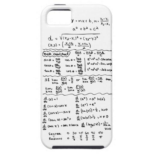 Math Equations Cheat Sheet iPhone 5 Case