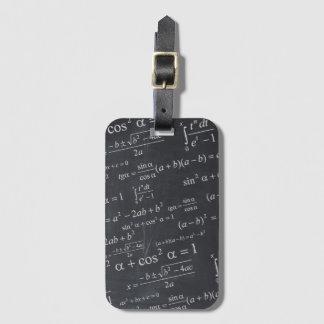 Math Equations on Blackboard Funny Look Luggage Tag