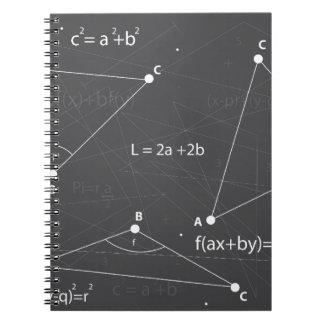 Math Equations Spiral Notebook