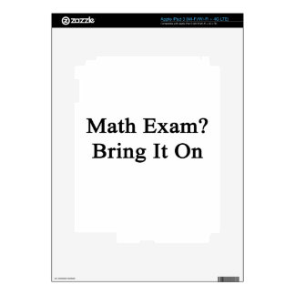 Math Exam Bring It On Skins For iPad 3