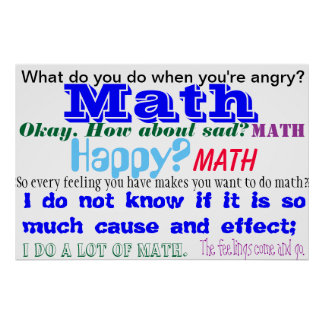 Math Feelings Blue TShirt Poster