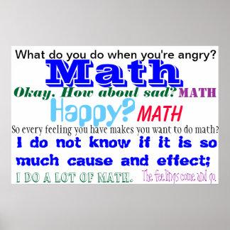 Math Feelings Blue TShirt Poster