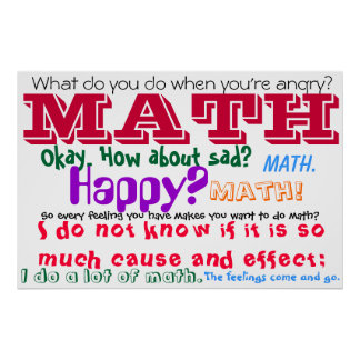 Math Feelings Quote Poster