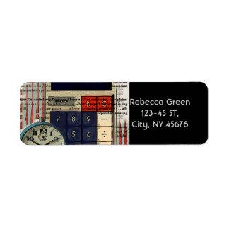 Math financial advisor accountant calculator label
