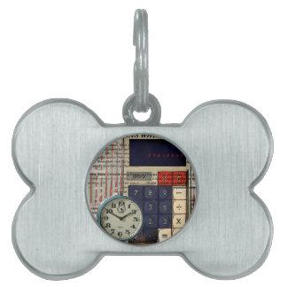 Math financial advisor accountant calculator pet tag