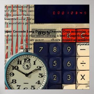 Math financial advisor accountant calculator poster