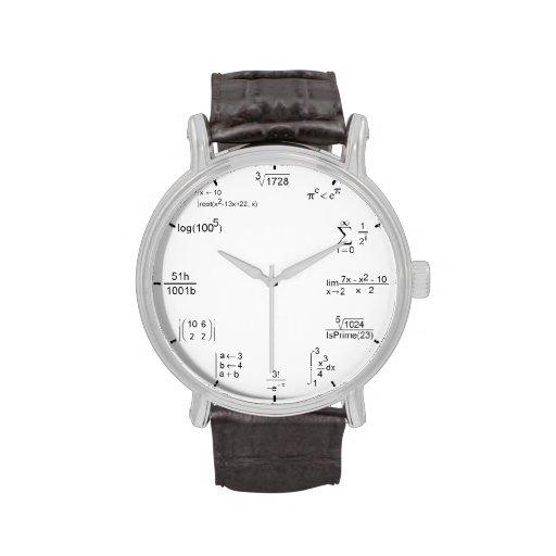 math formula wristwatch