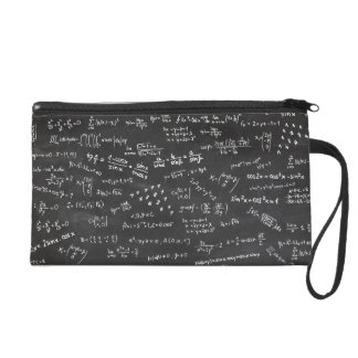 Math Formulas And Numbers Wristlet Purses