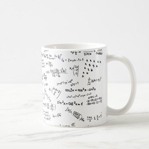 Math Formulas And Numbers Classic White Coffee Mug