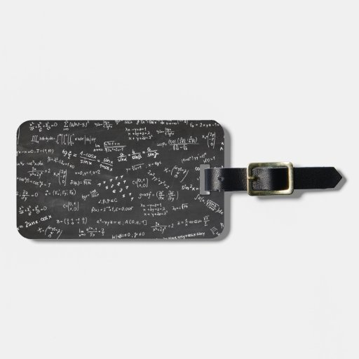 Math Formulas And Numbers Tags For Luggage