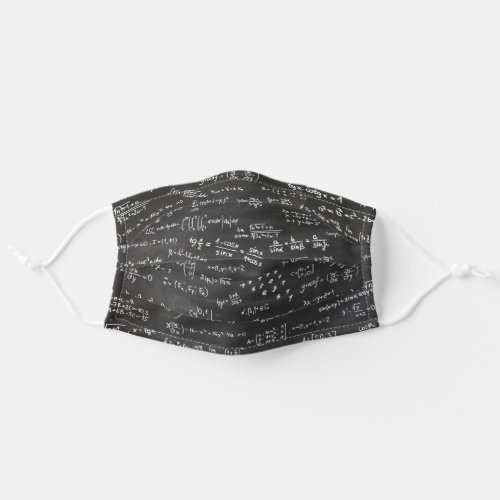 Math Formulas And Numbers On Blackboard Cloth Face Mask