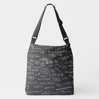 Math Formulas And Numbers On Blackboard Crossbody Bag
