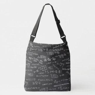 Math Formulas And Numbers On Blackboard Crossbody Bag