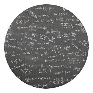 Math Formulas And Numbers On Blackboard Eraser