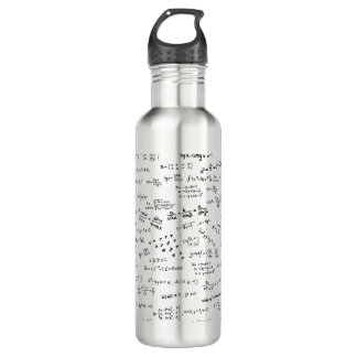 Math Formulas And Numbers Water Bottle